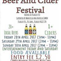 Pleasley Pit Beer &amp Cider Festival