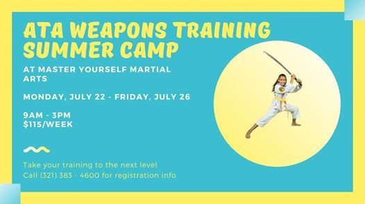ATA Weapons Training Summer Camp at Master Yourself Martial