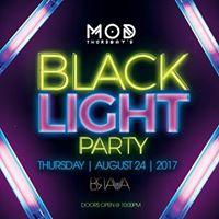 Mod &quotBlack Light Party&quot at Brava Thursday August 24 2017