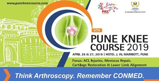 Visit CONMEDs Booth at the 9th Pune Knee Course 2019