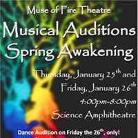Spring Awakening Auditions