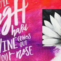 PaintNite-Chalkboard Daisy