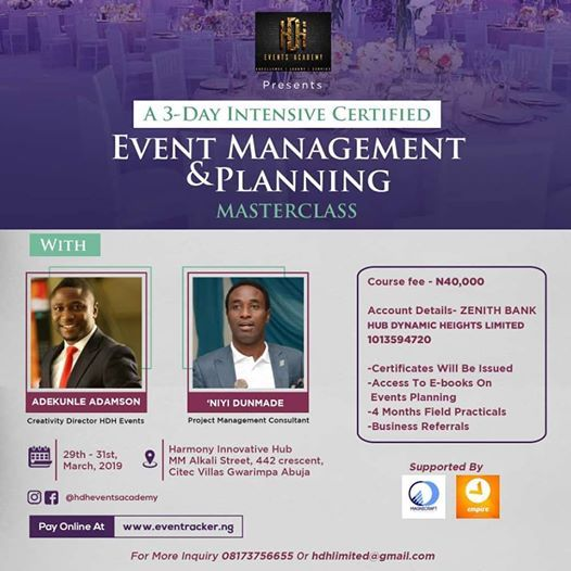 Event Planning and Management Masterclass