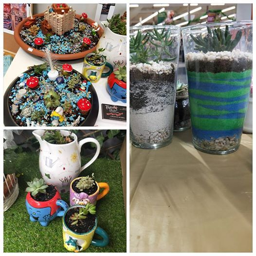 School Holiday Crafting -Theamed Mini Garden or Sand Art terrari