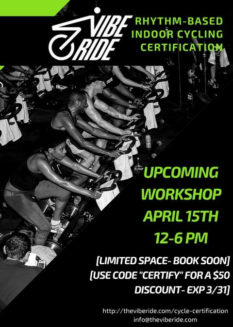 Vibe Ride Indoor Cycling Rhythm Certification At W Peachtree St Ne