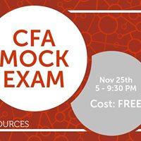 CFA Mock Exam
