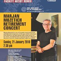 Marjan Mozetich Retirement Concert