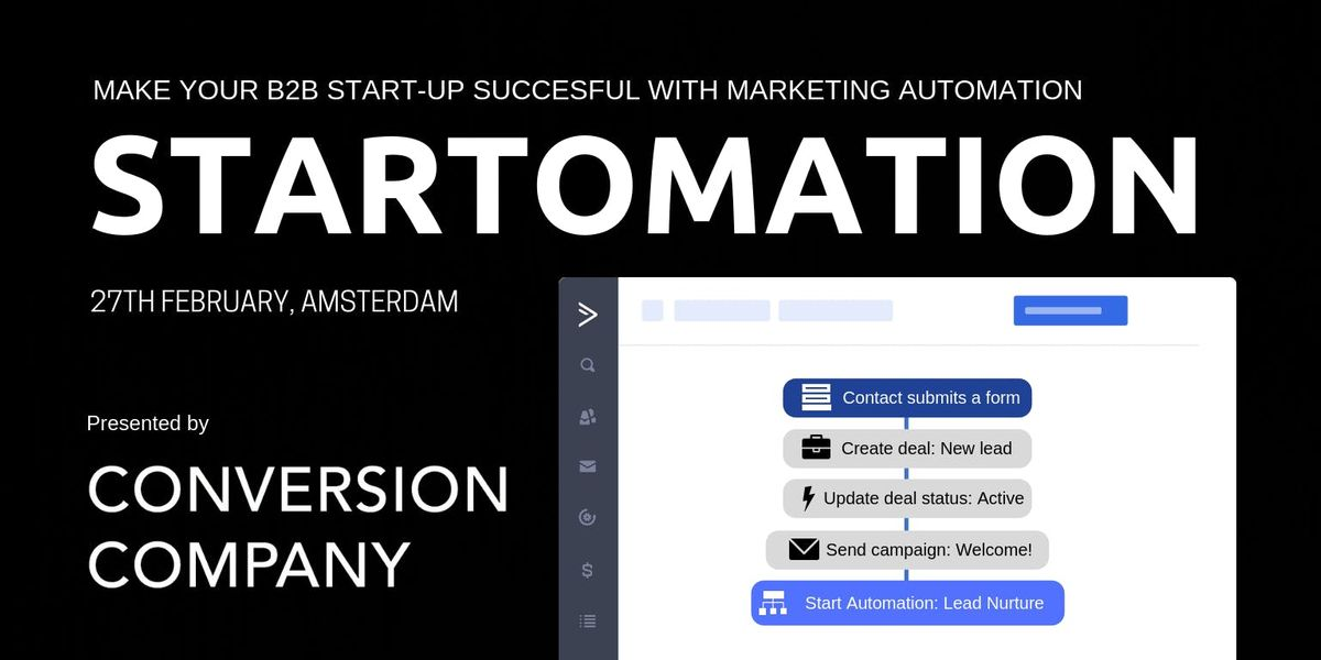 STARTOMATION Make Your B2B Start-Up Succesful With Marketing Automation