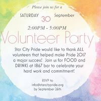 Volunteer Party - Thank you from SCP