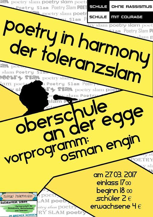 Poetry In Harmony Der Toleranzslam At Oberschule An Der Egge Bremen