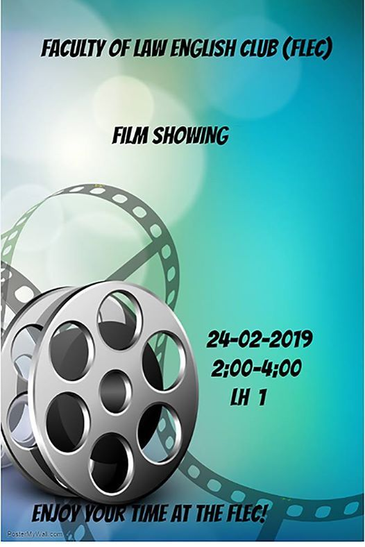 Faculty of Law English Club- Film Showing