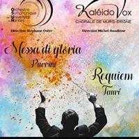 Messa di Gloria de Puccini et Requiem de Faur