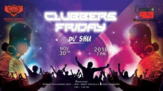 Clubbers Friday Night on 30th Nov