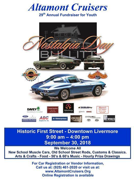 Nostalgia Day Car Show At Downtown Livermore - Livermore car show