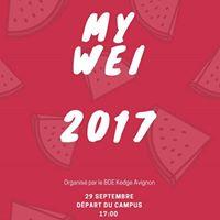 Week-End dIntgration Kedge Avignon 2017  My WEI