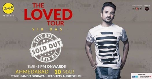 Vir Das live in Ahmedabad - TheLovedTour[SOLD OUT]