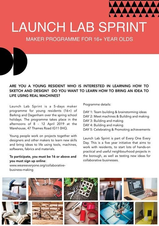 Launch Lab Sprint - maker programme for 16 year olds