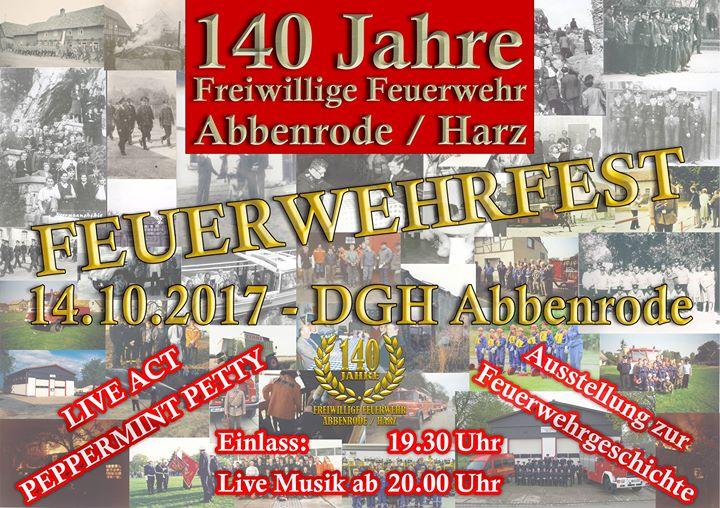 140 Jahre Freiwillige Feuerwehr Abbenrode Harz