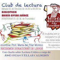 Club de Lectura SADE Tucumn Octubre