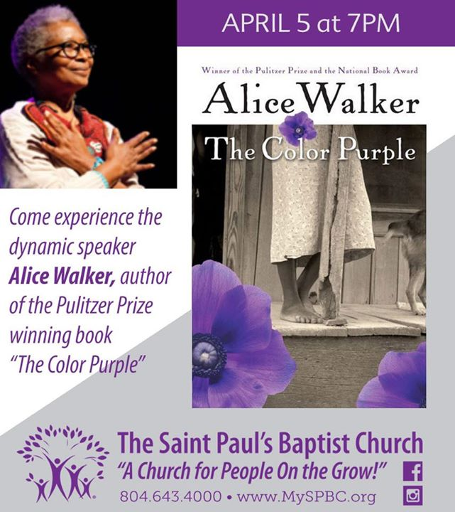 Alice Walker, Author of The Color Purple at The Saint Paul\'s Baptist ...
