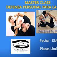 Mster Class Defensa Personal para la Mujer