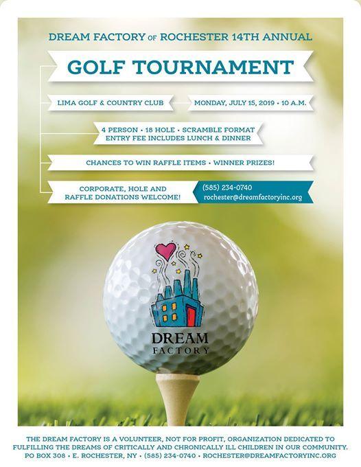 Dream Factory of Rochester annual golf tournament