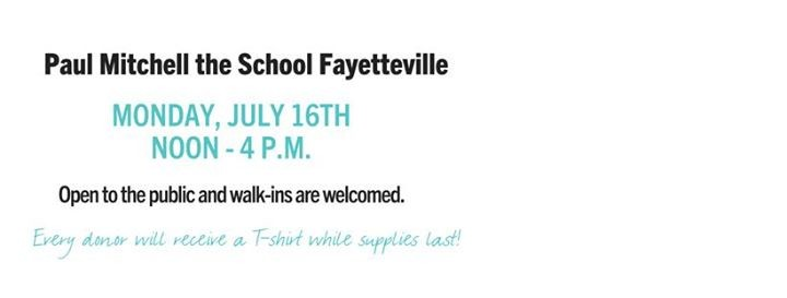Summer Blood Drive At Paul Mitchell The School Fayetteville Nc Carolina