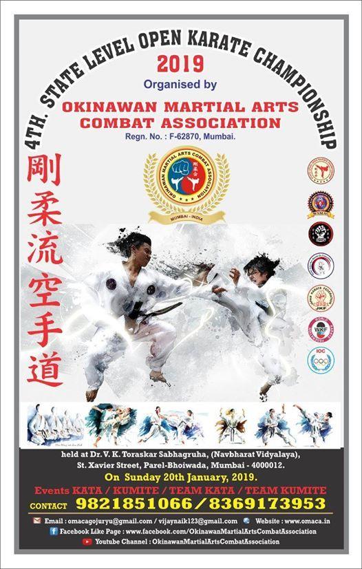 4th State Level Open Karate Championship at Navbharat Vidyalaya, Mumbai