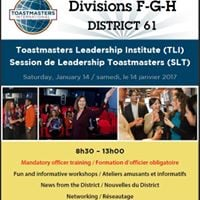 Session leadership Toastmasters - Formation dirigeants de club
