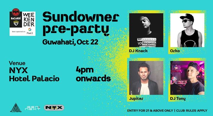 Bacardi NH7 Weekender Sundowner Pre-Party at NYX - 22 OCT Sunday