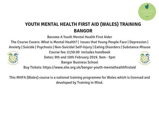 Youth Mental Health First Aid (Wales)Training