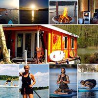 SUP Yoga Retreat mit dem Hausboot