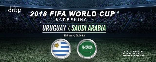 2018 FIFA World Cup Screening Uruguay x Saudi Arabia