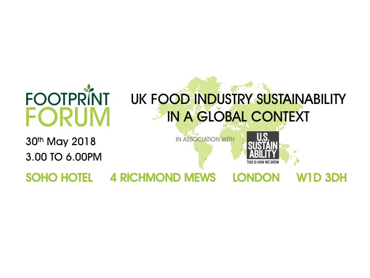 UK Food Industry Sustainability In A Global Context in association with the US Sustainability Alliance