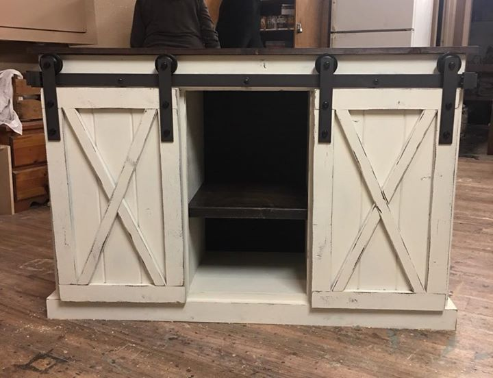 Sliding Barn Door Console Diy March 10 2018 At My Life Repurposed