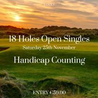 18 Hole Singles Open - Handicap Counting