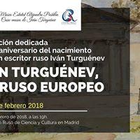 Inauguracin de la exposicin Ivn Turgunev un ruso europeo