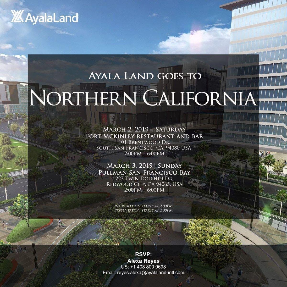 Ayala Land goes to Redwood City, CA at Pullman San Francisco