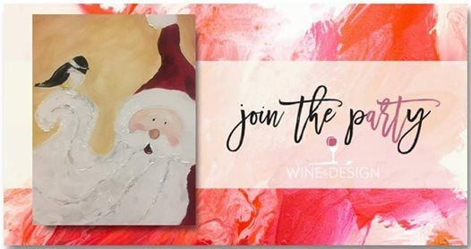 Paint Sip Santa Chick At Wine Design Southern Pines North