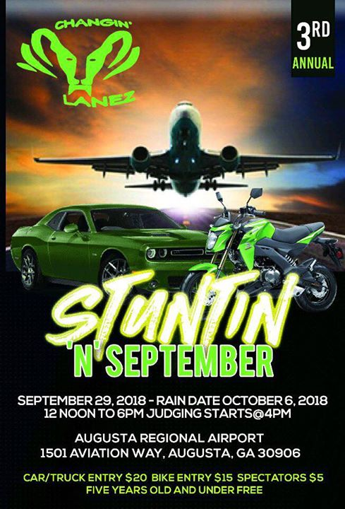 CHANGIN LANEZ Stuntin N September CAR SHOW At Aviation Way - Car show augusta ga