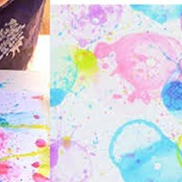 Bubble Painting Art Activity at Denios