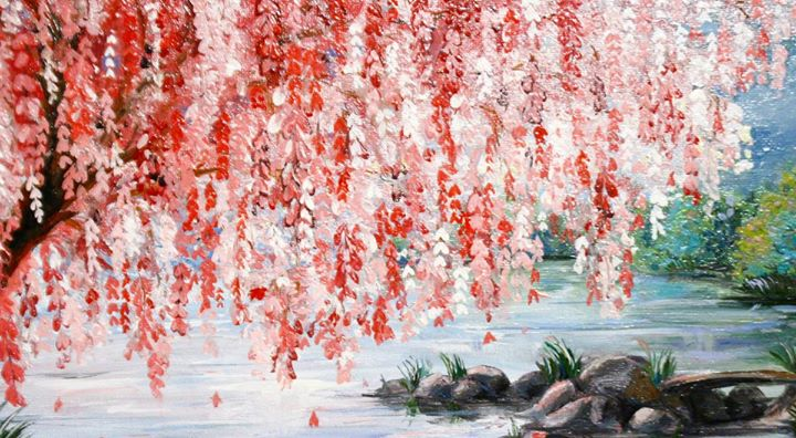 Uptown Art Calendar West Palm Beach : New painting pink weeping willow tree at uptown art
