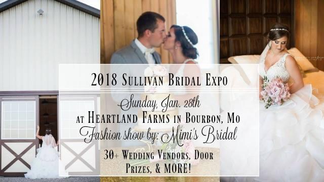 Sullivan bridal expo at heartland farms bourbon for Wedding expo az