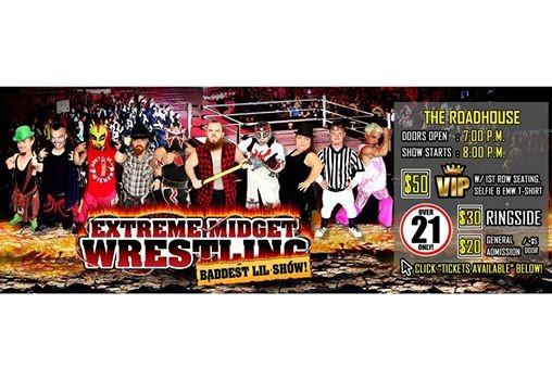 Extreme Midget Wrestling in Spokane ValleyWA at The Roadhouse