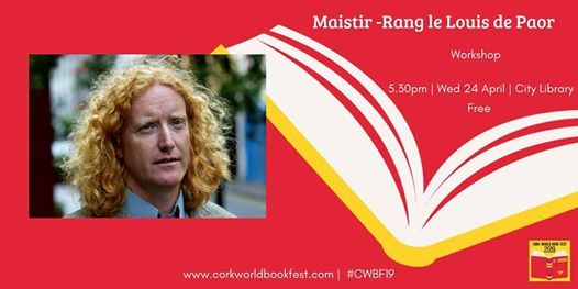 Maistir Rang le Louis de Paor at Cork World Book Fest