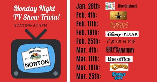 Join us for Monday Night TV Trivia with STUMP Trivia! at