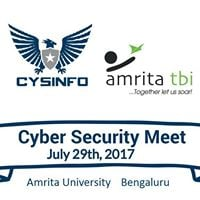 Cysinfo Cyber Security Meetup at AmritaTBI
