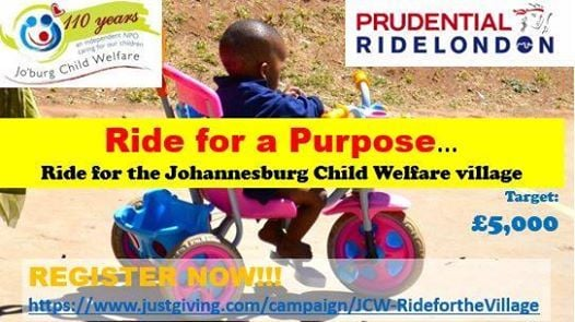 Prudential Ride London for JCW at Joburg Child Welfare, Johannesburg