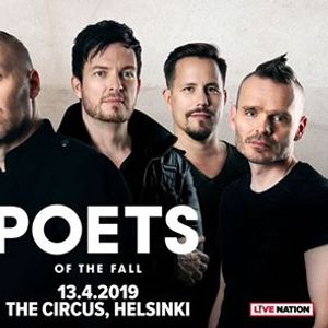 Poets Of The Fall 13.4.2019 The Circus Helsinki K-18