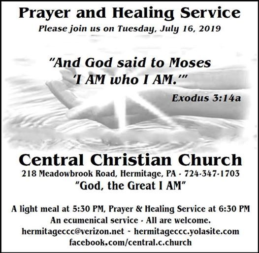 Prayer and Healing Service - God, the Great I AM at Central